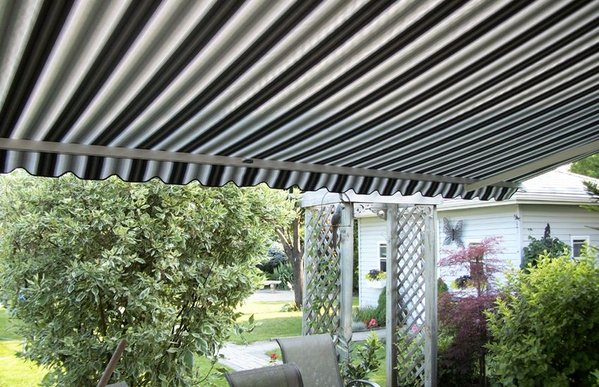 Striped Adalia X3m And Basket Awning Awning Retractable Awning Residential