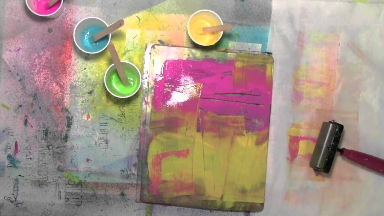 Using fabric on the Gelli Plate with Carolyn Dube. Very excited to try this during my next round of Gelli plate play!