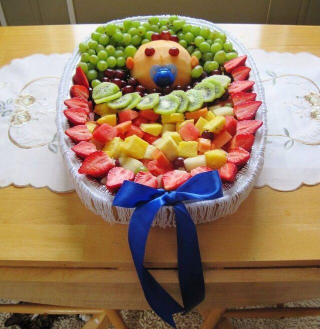 Display Baby Shower: Cute Baby Shower Idea To Display Fruits