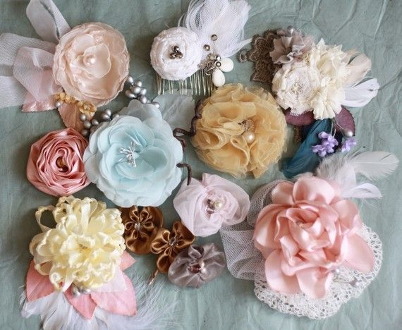 Beautiful fabric flowers