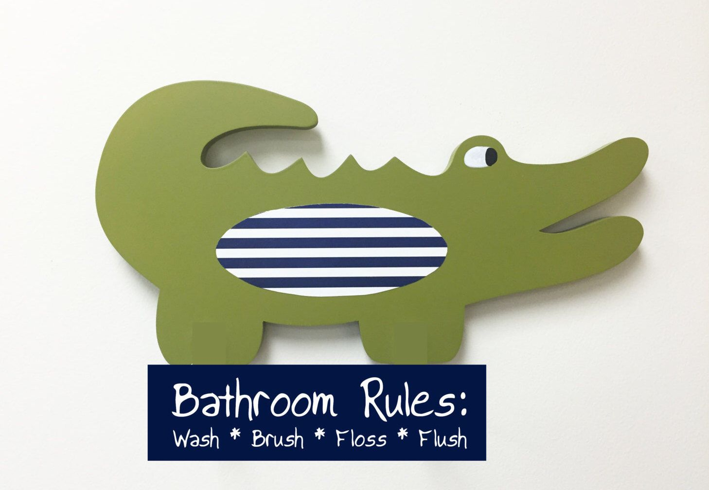 Alligator Bathroom, Alligator Nursery, Bathroom Rules Sign, Kidu0027s Bathroom  Decor, Wooden Alligator