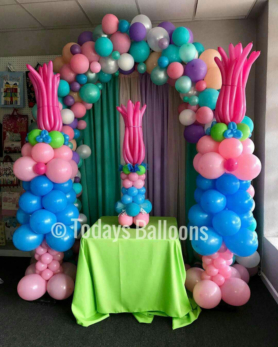 Trolls birthday party ideas for your kid 39 s birthday party for Bday decoration