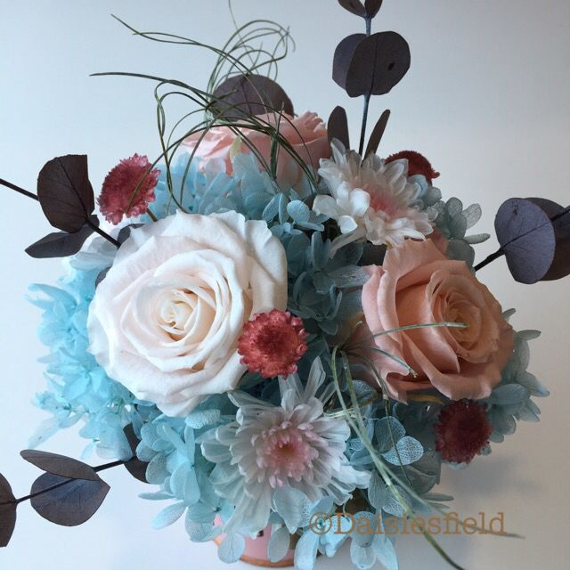 Arctic Beauty- handcrafted preserved flowers , made Fr fresh flowers ...