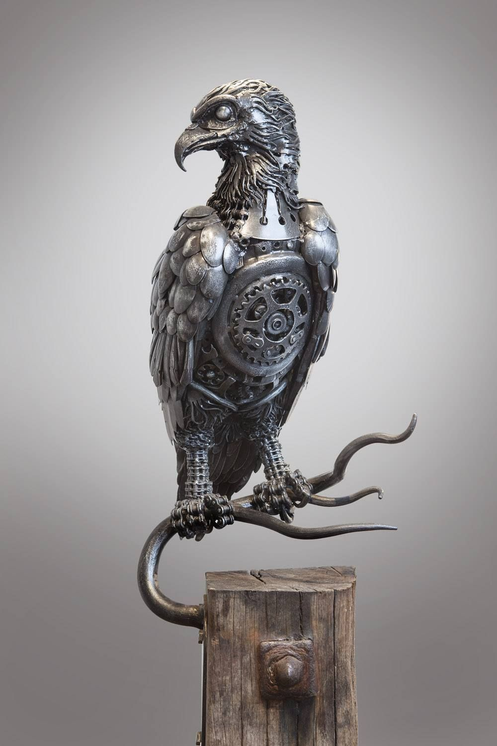 Scrap metal sculptures by alan williams steampunk