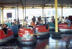 35mm Slide Bumper Car Ride Amusement Park Color Original 1969 Foraine