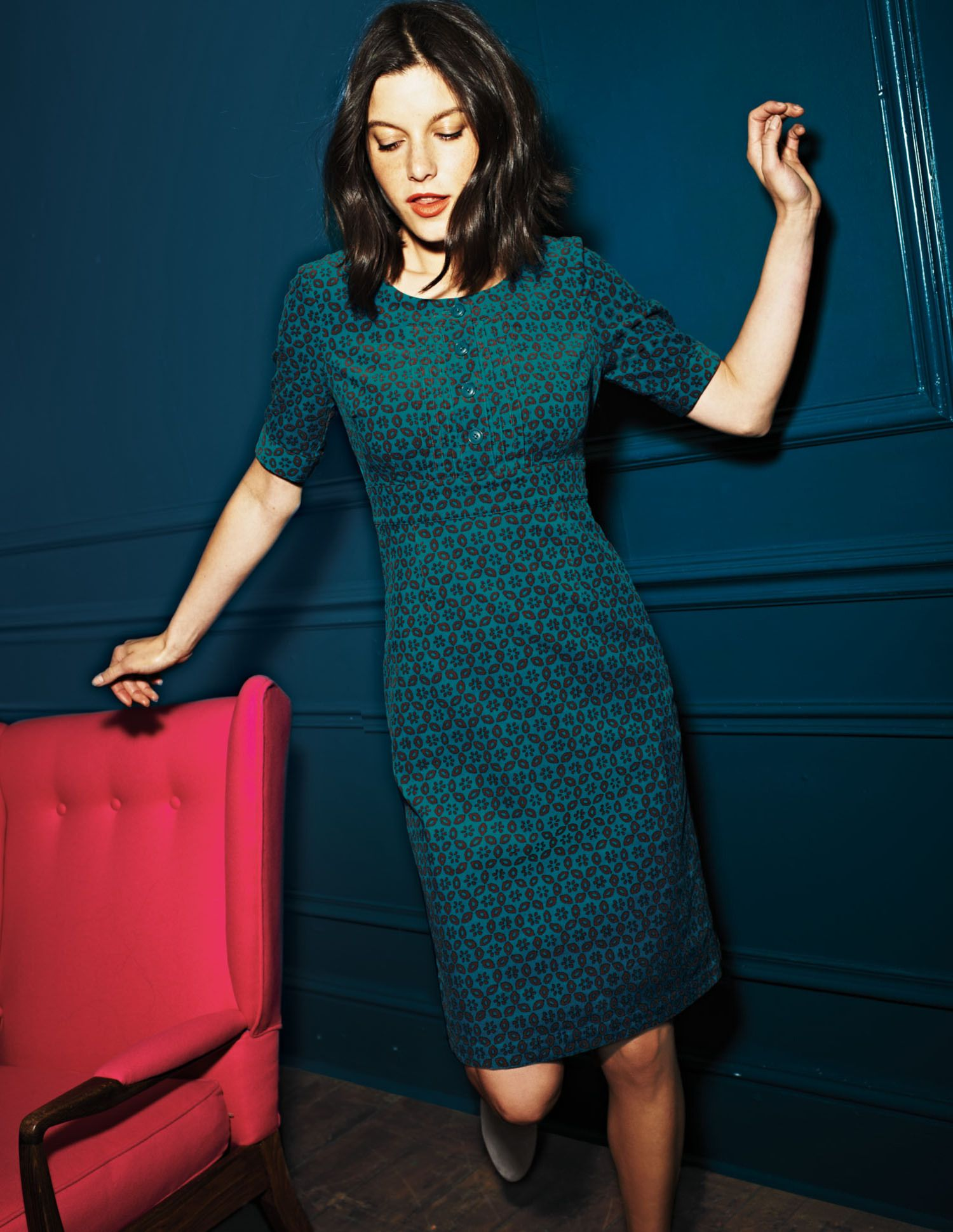 Westbourne Kleid Wh579 Casual Dress By Boden Green Kleider