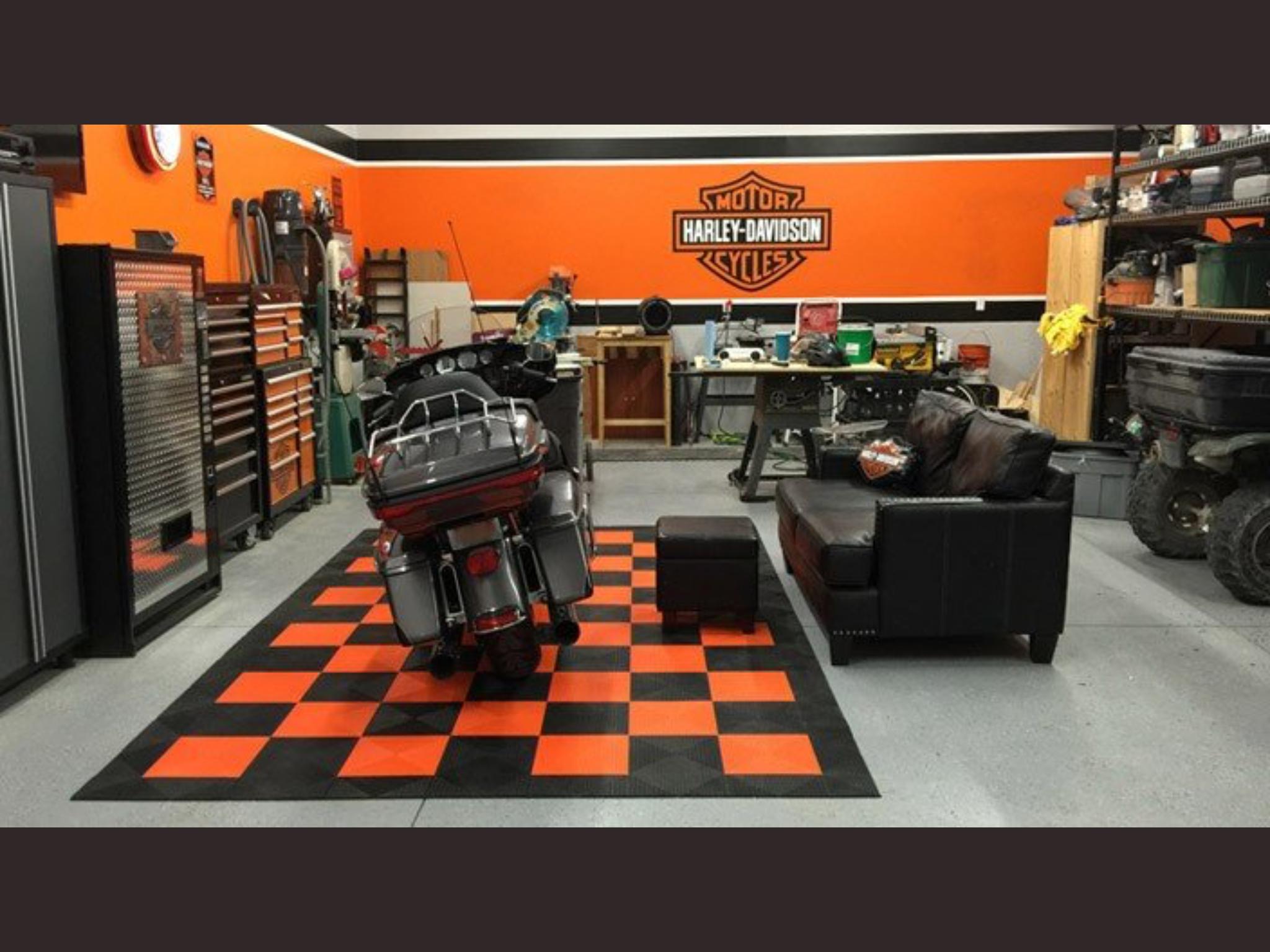 Harley Man Cave Ideas Man Garage Harley Davidson Decor Garage Paint