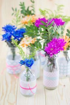 Ideen für Blumen Vasen. #Blumenvasen zum selber machen. #DIY mit www.HarmonyMinds.de