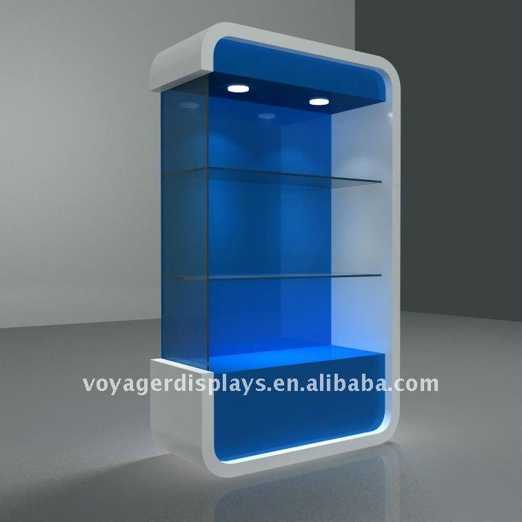 Moderna vitrina de madera para electr nica tienda al por menor exhibici n vitrinas de - Disenos de mostradores ...