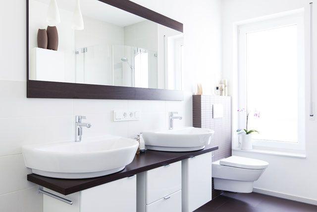 espelhos em ambientes #banheiro #duascubas