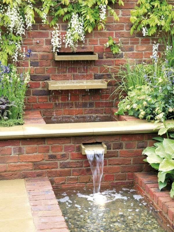 wasserfall gartenbrunnen-design idee | tinas garten | pinterest, Gartenarbeit ideen