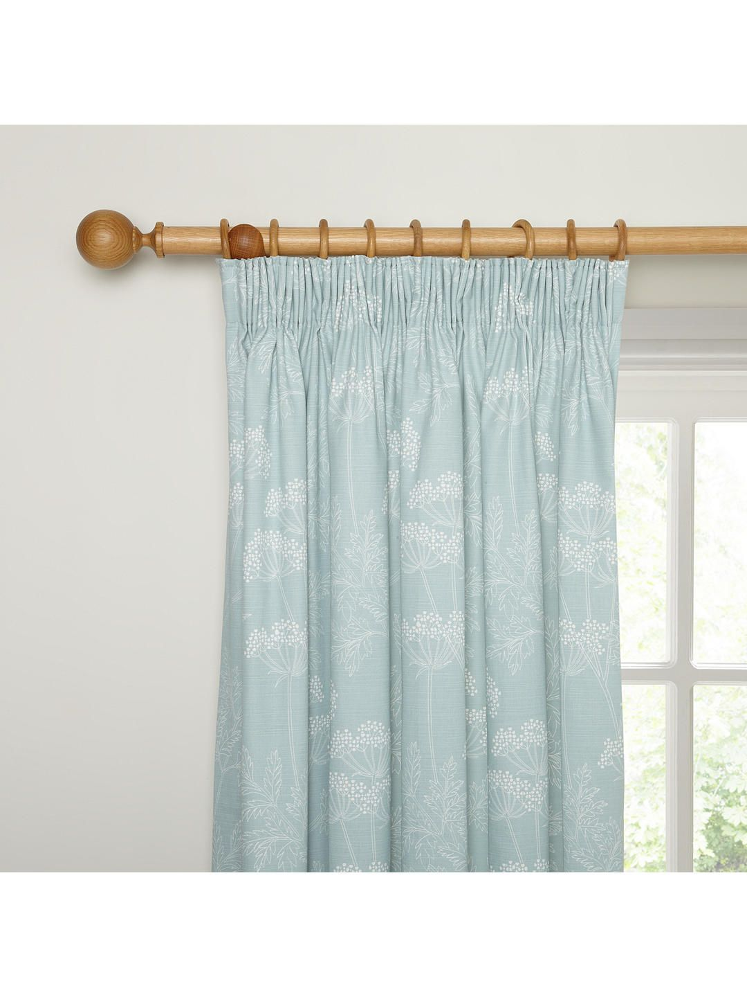 John Lewis Partners Cow Parsley Pair Lined Pencil Pleat Curtains At John Lewis Partners In 2020 Pleated Curtains Pencil Pleat Curtains