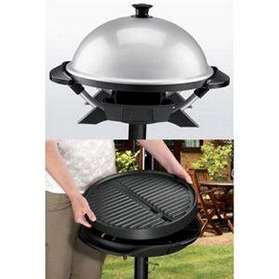 SALE George Foreman GGR200RDDS Round Indoor/Outdoor Electric Grill ...
