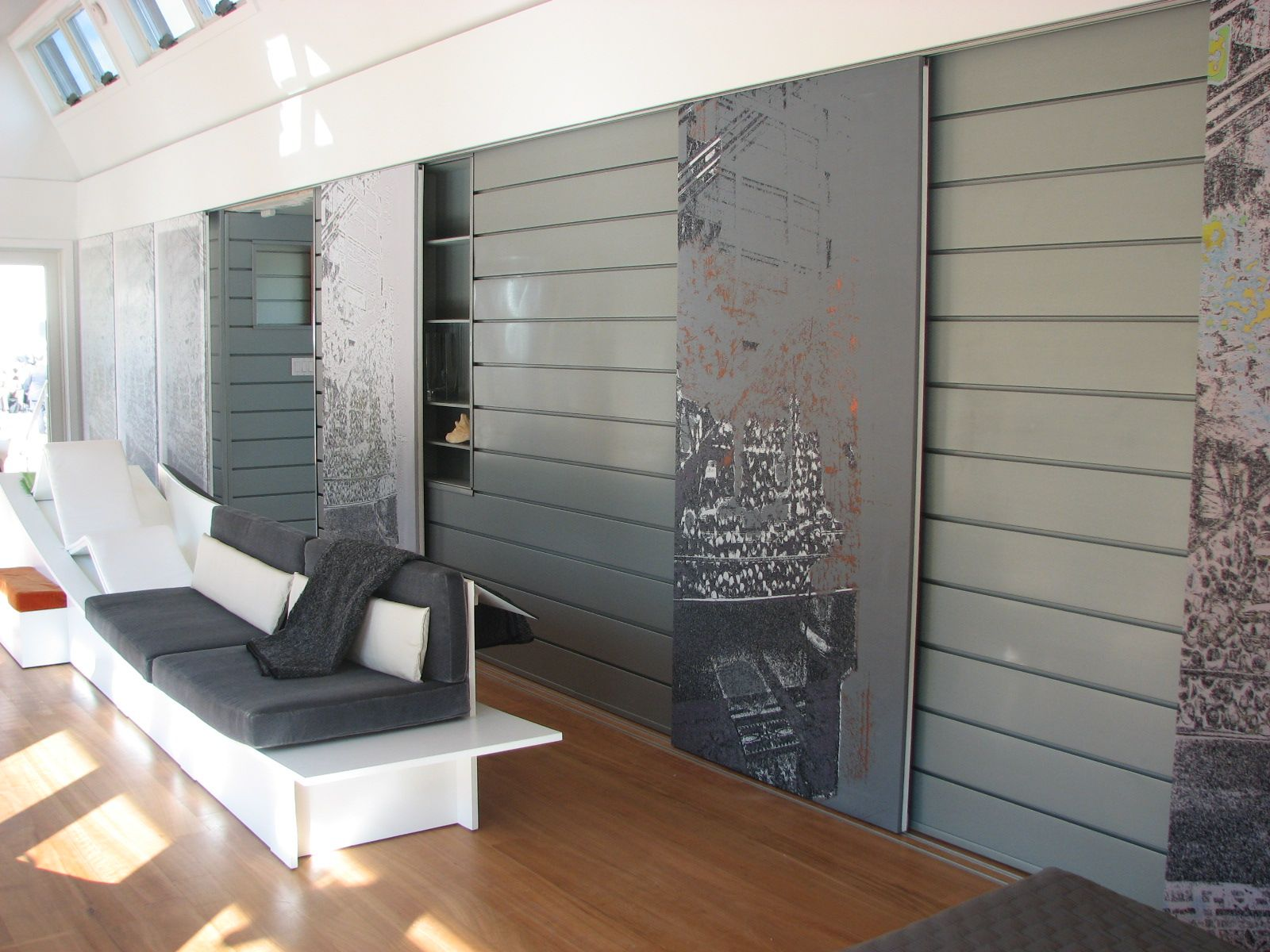 Interior wall reveal panels preweathered zinc zinc facade system
