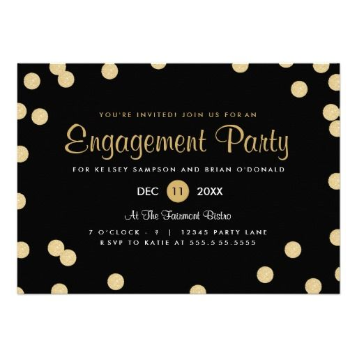 Wedding and Engagement Party Black Confetti Gems