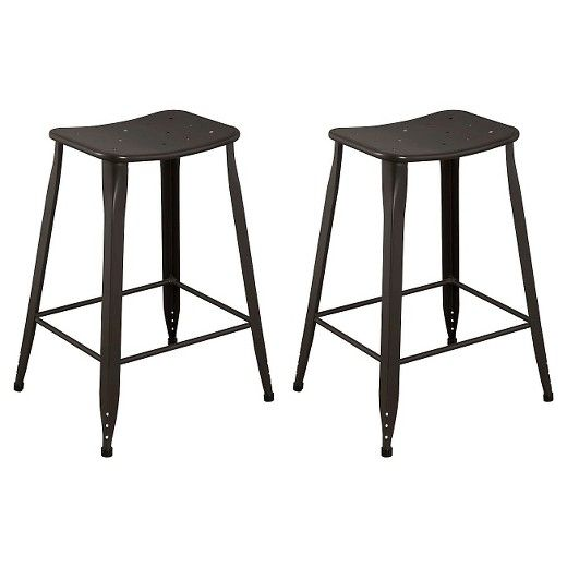 The Lennon Trade Saddle Backless Counter Stool Is The Perfect