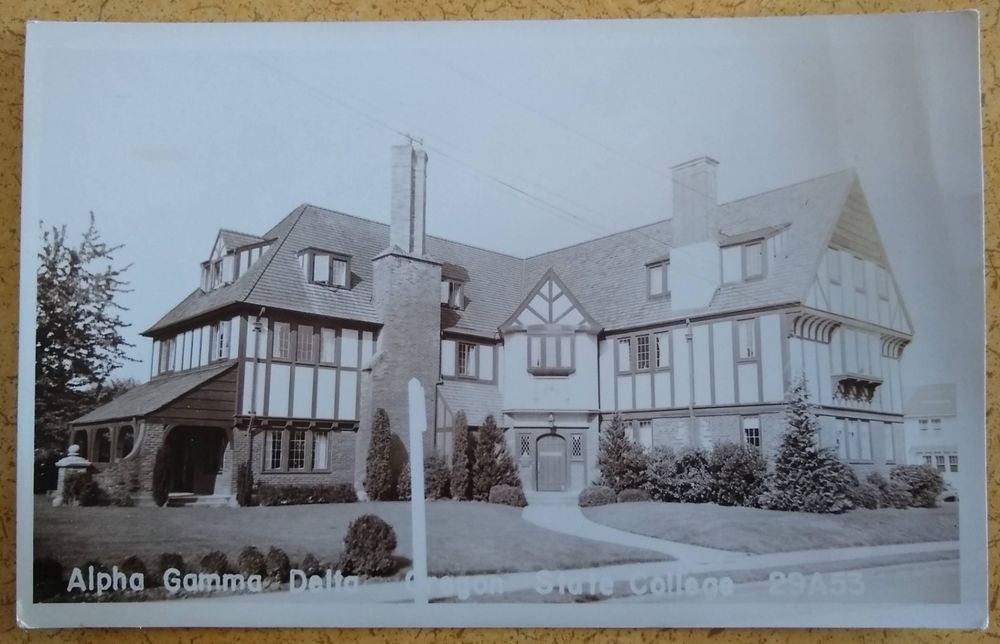 Alpha Gamma Delta Oregon State University Postcard Real Photo