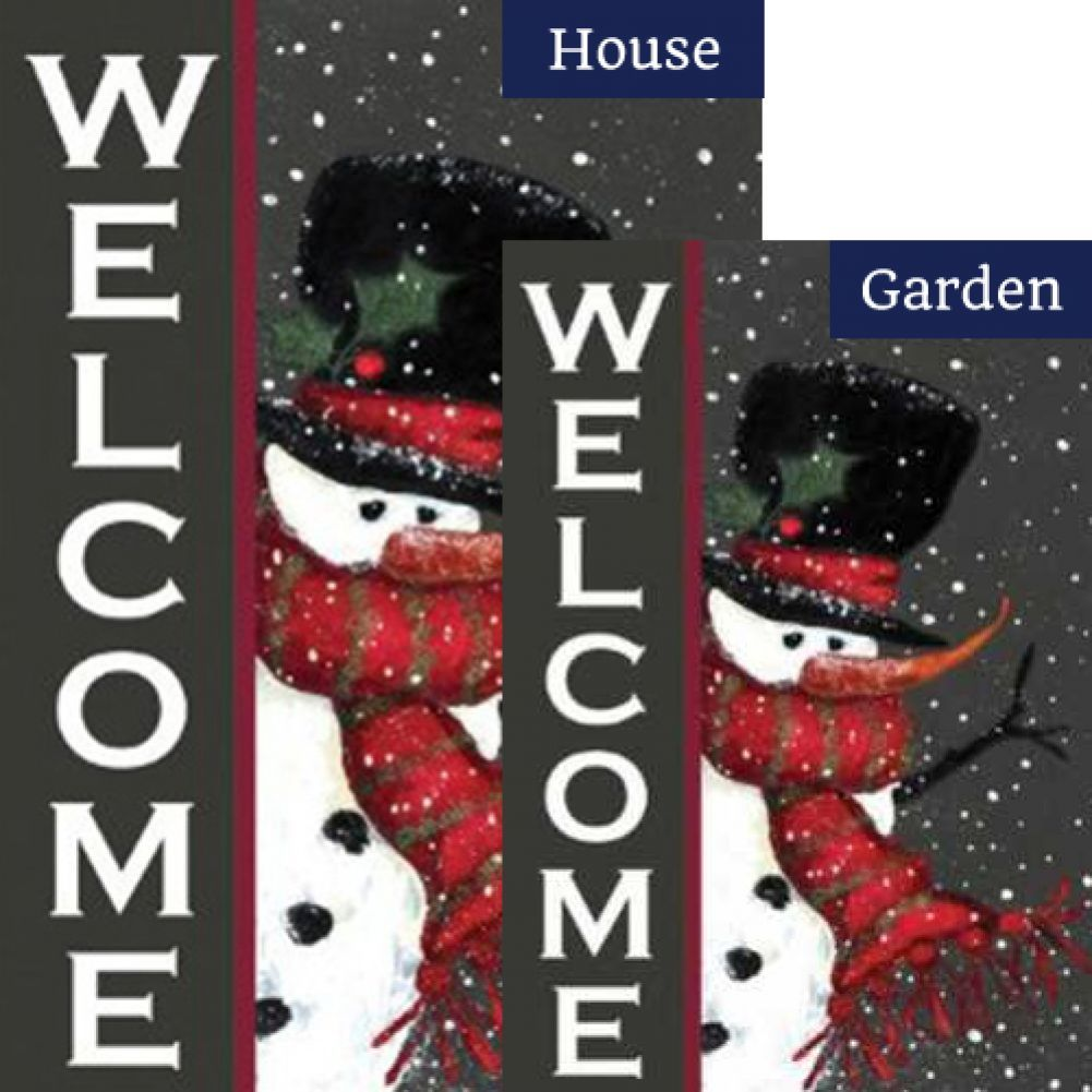 Snowman Welcome Flags Set (2 Pieces)