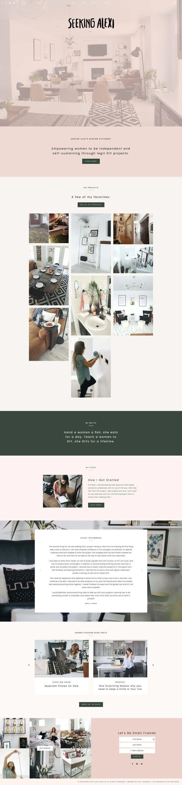 Paloma WordPress Theme Portfolio web design, Simple