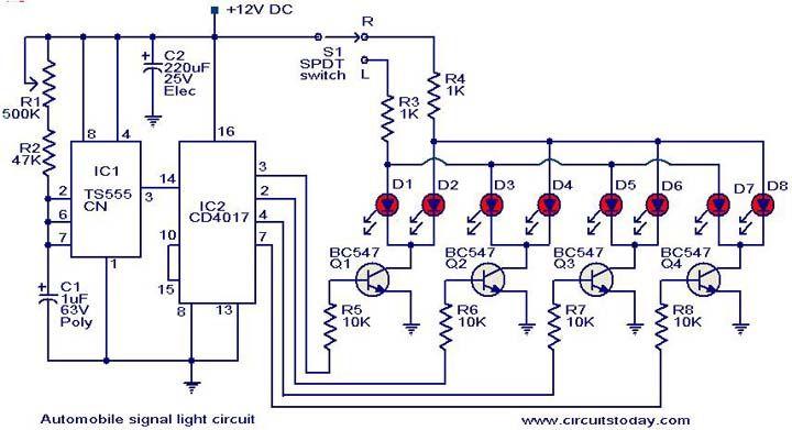 automobile turn signal light circuit diagram jpg automotive rh pinterest co uk circuit diagram for microcontroller based projects Parallel Circuit Diagram