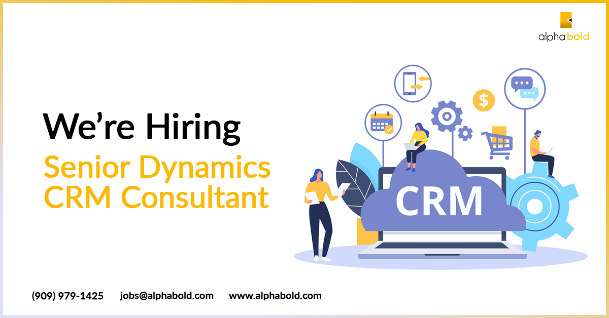Job Alert Senior Dynamics Crm Consultant We Are Looking For A Senior Consultant With Atleast 4 Years Of Experience In Dynamics Crm Do Crm Job Consulting