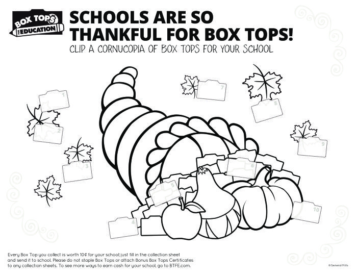 Box Tops for Thanksgiving Collection Form   Box Tops   Pinterest ...