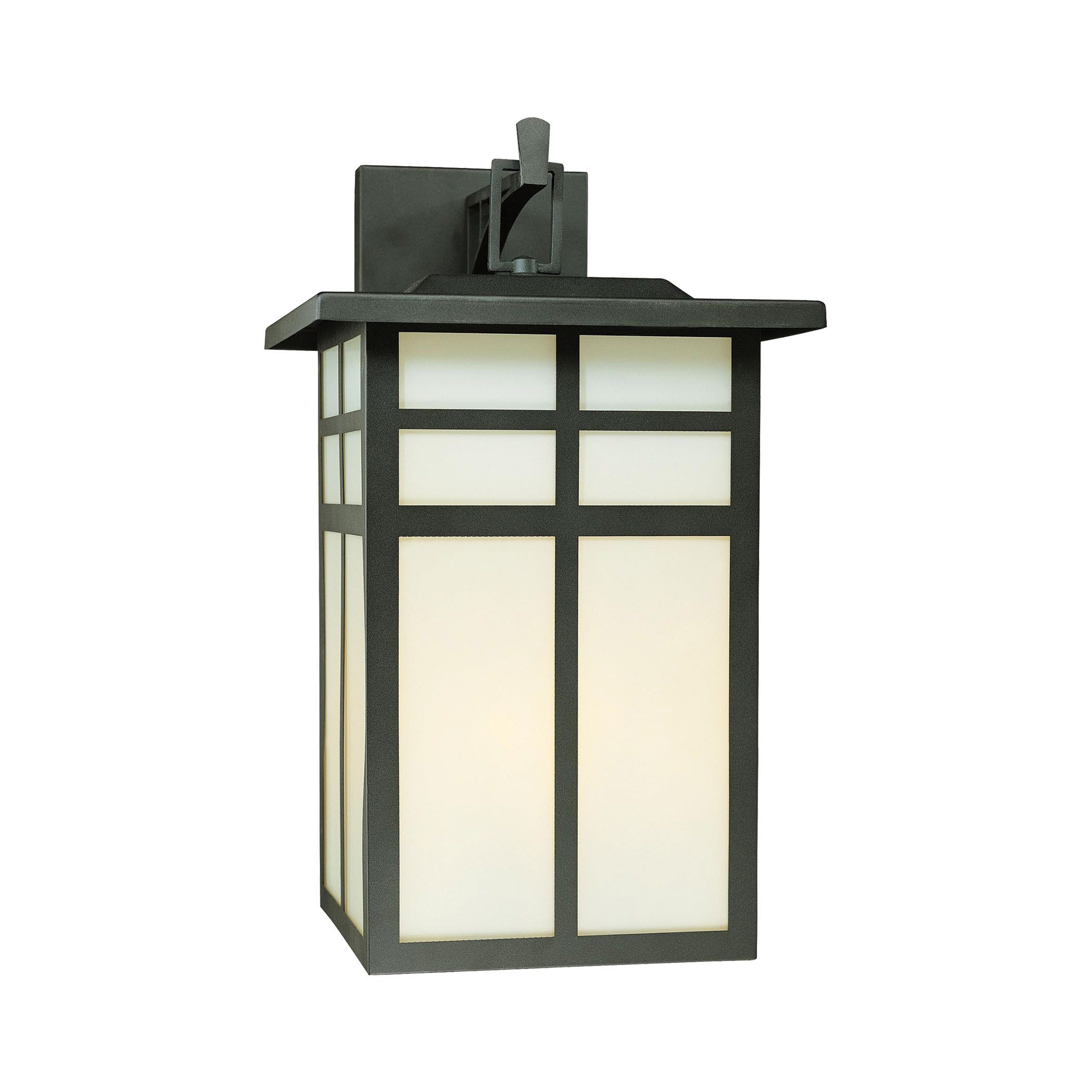 Lake thomas point transitional exterior - Thomas Lighting Sl91067 Mission Collection Black Finish Transitional Wall Sconce