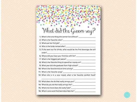 Bs447 What Did The Groom Say Usa Sprinkle