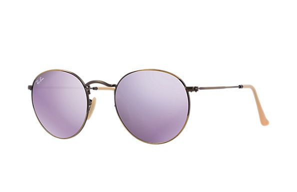 Ray-Ban RB3447 167 68 50-21 Round Flash Lenses Sunglasses   Ray-Ban USA.  How cool are these    14070065917b