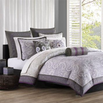 Amazon Com Echo Marrakesh Duvet Cover Lavender Grey Reversible