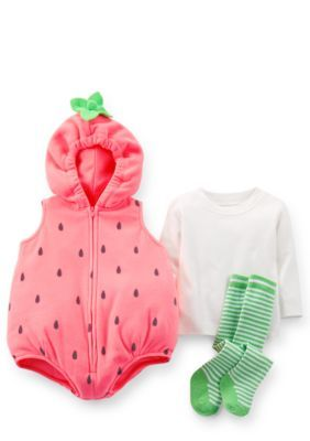 18e867be1b30 Carters 3-Piece Strawberry Costume