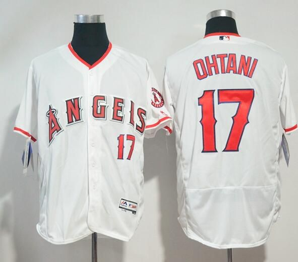 d05a9bea1 Men s Los Angeles Angels Of Anaheim  17 Shohei Ohtani White Home Stitched  MLB Majestic Flex Base Jersey