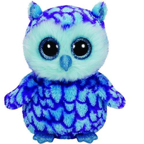 4002939b335 Ty Beanie Boos Oscar the Blue Purple Owl Regular Plush