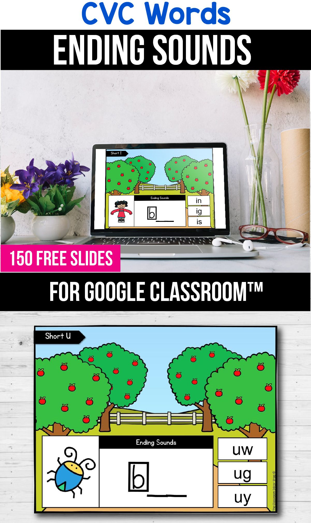 Free Google Classroom Distance Learning Packets Cvc Word Worksheets In 2020 Google Classroom Kindergarten Google Classroom Activities Google Classroom
