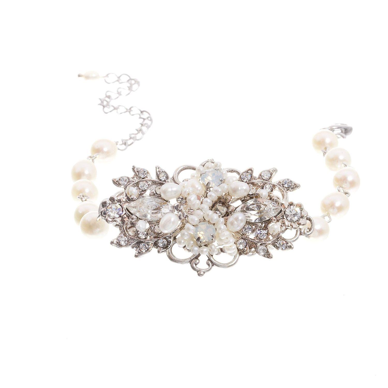 perlen armband hochzeit armband vintage stil braut armband weisser opal schmuck hochzeit. Black Bedroom Furniture Sets. Home Design Ideas