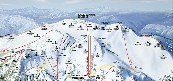 Mammoth Mountain California Map.Mammoth Mountain Ski Area Ski California Snow Culture Pinterest