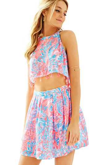 288555242bfcd8 Lilly Pulitzer Selina Halter Top & Skirt Set Summer Dresses For Women, Summer  Outfits,