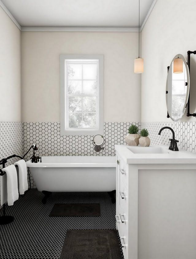 Cream And Black On Black Bathroom For The Home In 2019