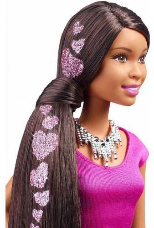 Barbie Glitter Hair Doll African American Barbie Glitter Hair Barbie Glitter Fashion