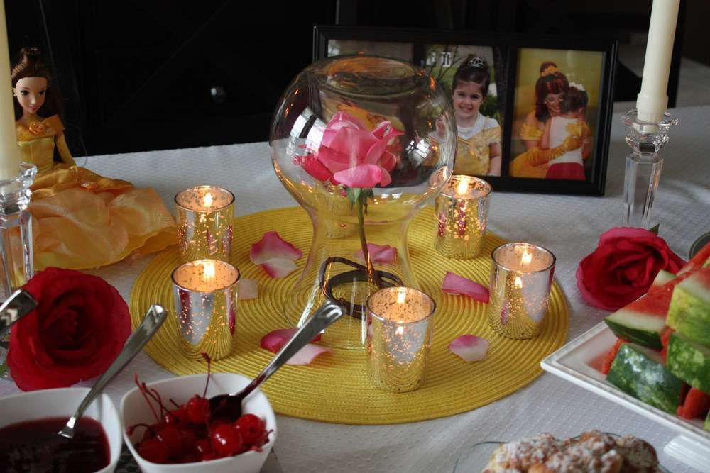 Princess Belle Party Decorations Princess Belle Party Birthday Party Ideas  Princess Belle Party