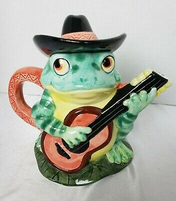 Potpourri Press Ceramic Teapot Frog In Cowboy Hat Playing Guitar Whimsical Tea Pots Ceramic Teapots Novelty Teapots There are 35 frog cowboy hat for sale on etsy, and they cost $32.36 on average. pinterest