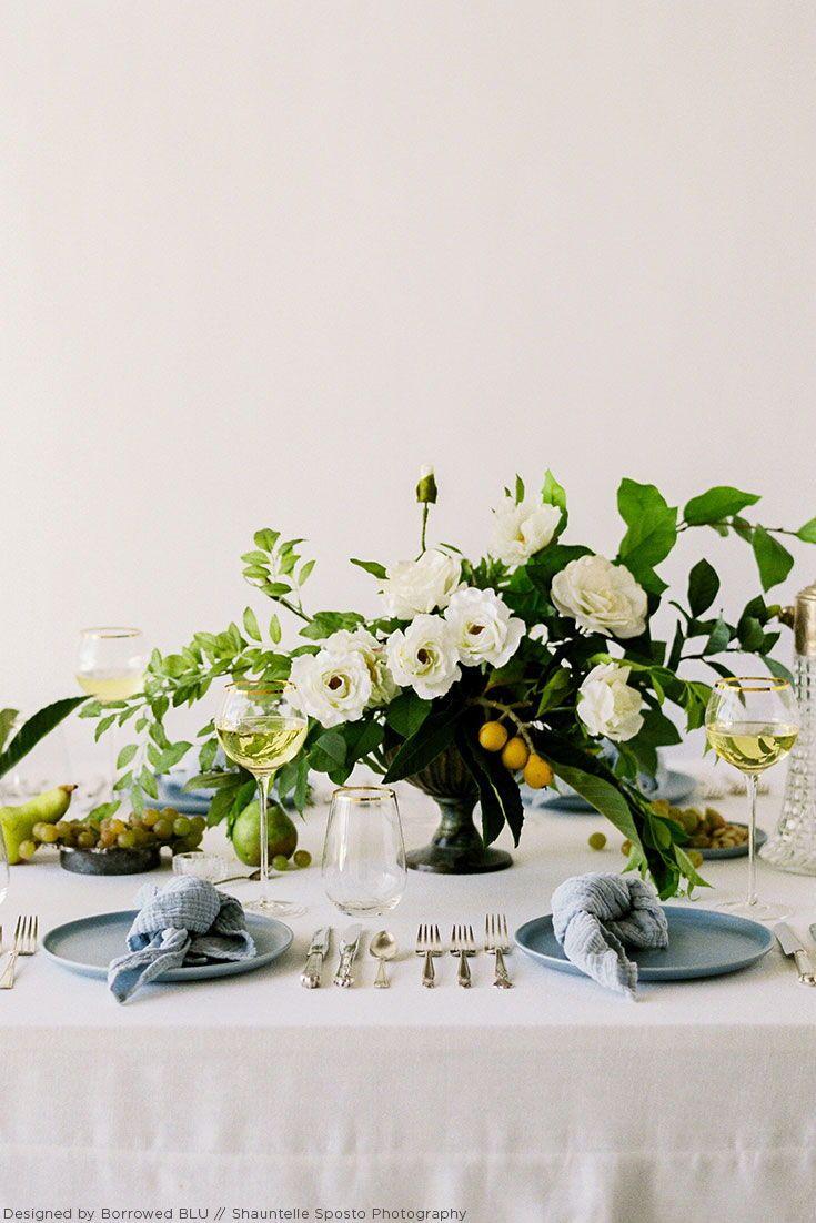 Elegant Silk Flower Wedding Centerpiece in Blue and Green Hues ...