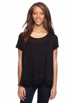 Takeout  Crochet Bottom Tee