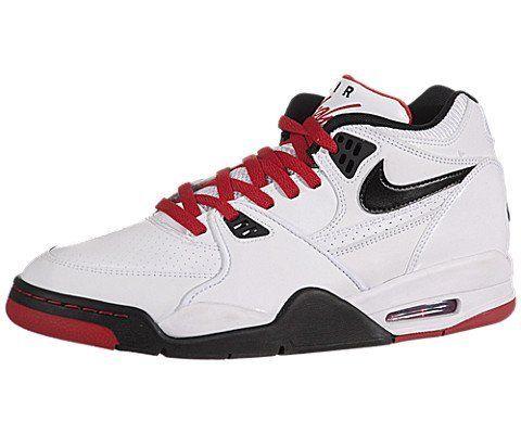 Nike Men's Air Flight 89 Basketball Shoes WhiteRedBlack