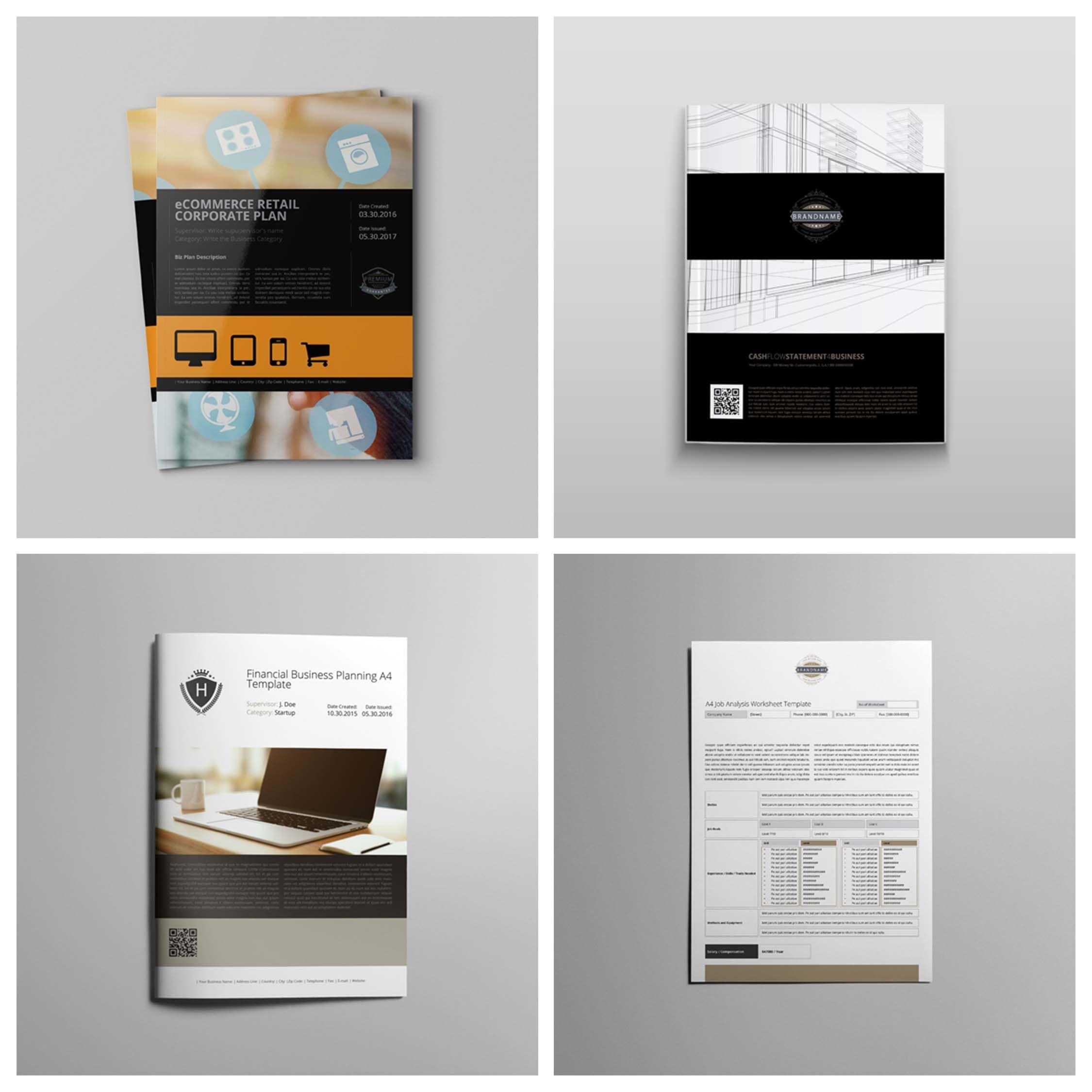 Business Plan Template. CMYK & Print Ready