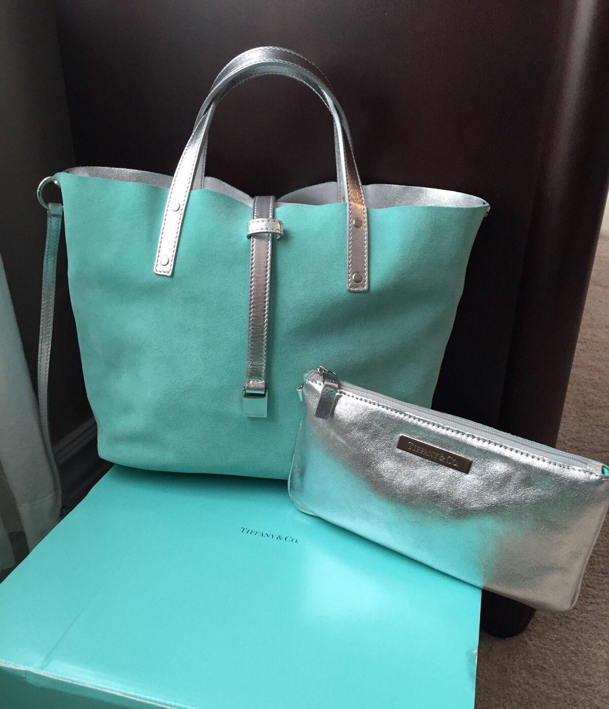 7afc5f1525 I love this mini purse--- Tiffany Co Small Blue Suede Silver Metallic  Reversible Tote Cosmetic Case | eBay #tiffany #taffanyblue #purse #fashion  #luxury