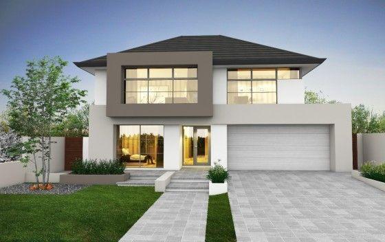 Fachadas de casas modernas de dos pisos hermosos dise os for Disenos de pisos para casas