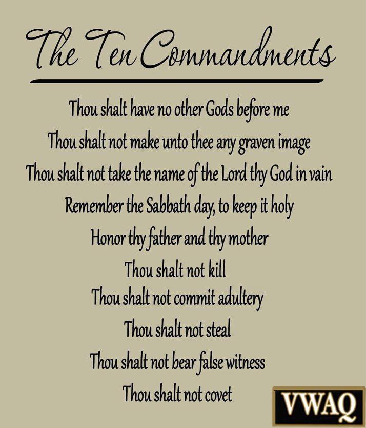10 commandments bible # 9