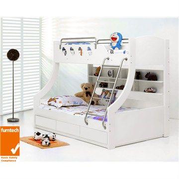 Celeste Trio Bunk Bed With Storage White Stuff To Buy