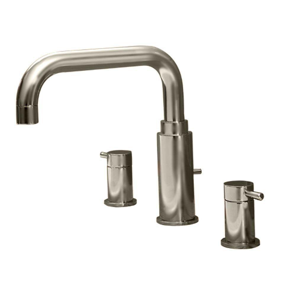 American Standard Serin 2 Handle Deck Mount Roman Tub Faucet Less Personal Shower In Satin Nickel 482517 Roman Tub